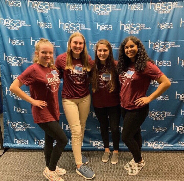 """The current officers of HOSA attended the Fall Leadership Conference in Lincoln. """"I have attended the Fall Leadership Conference, and I plan on attending the HOSA Expo again this year,"""" Vaughn said. The conference is only for officers."""