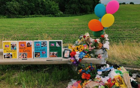 A memorial was quickly put up at the crash site less than 24 hours after.