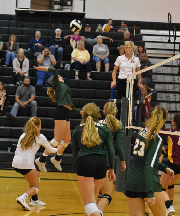The team counters the ball back at the opposing team. Photo by: Jada Scharff.