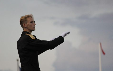 Senior William Holke is the drum major this season.