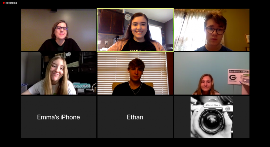 Still Meeting: Each staff from the journalism department meets once a week via Zoom to discuss their story assignments. They have done this every week since March 23 in order to stay organized and deliver content for their publications.