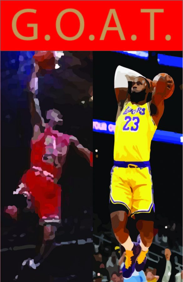Michael Jordan and Lebron James are arguably the two most famous basketball players in history.