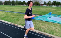 Staying Fit - Matthew Adams (22) is running at GMS.
