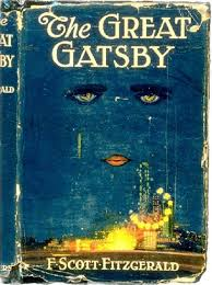 "The cover of the assigned novel, ""The Great Gatsby"" written by F. Scott Fitzgerald."