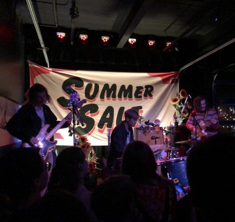 "Summer Salt performing their song ""Driving to Hawaii"" on stage at The Slowdown."