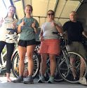 Not only have I been running, but I have been biking with my family, sophomore Grace Pemberton said. We have been biking everyday. Most days I go on a run and a bike ride. Grace Pemberton is in the middle left surrounded by her family.