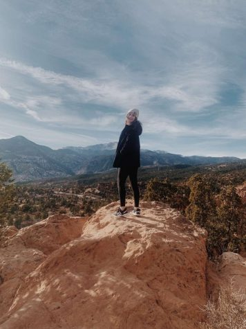 Senior, Cora Lopp enjoying the views in Colorado, where she will be attending college.