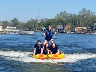 Going to the lake house with friends is a great way to kick off the summer. Tubing, boating and other water activities are all lake adventures to enjoy with friends and family.