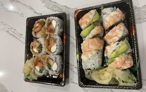 Hiro 88 offers tons of different types of sushi rolls. In the photo above, in the top  is Hiro's