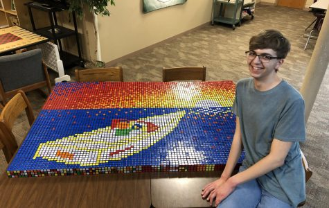 You CAN Do It: After completing his mosaic Daniel Anderson(20) was not sure how he would do.
