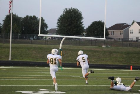 "In his first game action since his second ACL tear, Connor Bulgrin hauls in a touchdown. ""It was really exciting to participate in a game like situation,"" Bulgrin said. ""I did not expect to produce so much offense."" He finished the scrimmage with two catches for two touchdowns and over 100 yards."