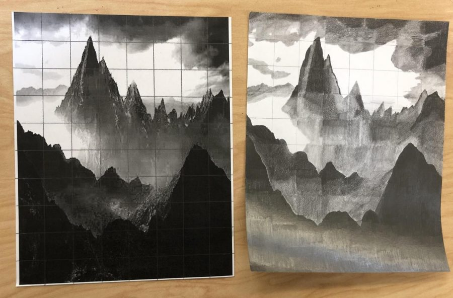 "Favorite Project: While enrolled in Drawing Fundamentals, Leiting was able to participate in art activities such as grid drawings. ""I would definitely say Faith's pencil grid drawing is probably my favorite project that Faith has done so far,"" Mrs. Oliver said. ""She did a tremendous job at showing the perspective and going into depth with the picture."""