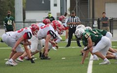"Trench Warfare: After the snap, the two lines lurch towards one another. ""Millard South had a good offensive line. They were able to get some push at times on Saturday. We could've played a little lower, but overall they are doing some good things and have been getting better every week."" Defensive Line coach Mr. David Statsny said. They allowed 34 points to Millard South."