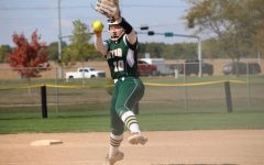 D-D-D- Defense; The underclassmen are sad to see players leaving such as pitcher Grace Buffington (21).