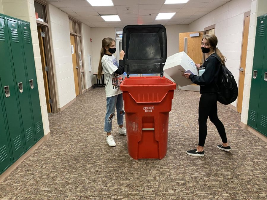 Helping Cleaning Up The student council is involved in a recycling project.