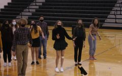 Students show off their moves during the concert choir on Oct. 6, 2020 at Gretna High School.