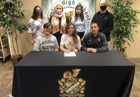 What A Relief: It was so relieving and exciting when I got to finally sign, Mackenzie Devine (21) said. I chose Missouri Western because it had everything I wanted. I liked that it was only two hours from Omaha and an hour from Kansas City. I felt super welcome when I first visited there and it also had the program I wanted to study.
