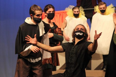 A Final Note: The final seconds of the play focuses on Jeremiah Merriman (21) as he gives his final thoughts. Performing is extremely exhilarating: it is a fun time, Merriman said. In the final scene, Merriman reveals his next playwright: Hamlet.