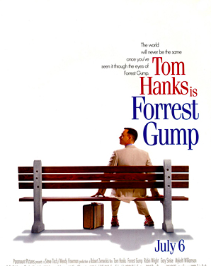 This is the cover of the greatest cinematic experience. Tom Hanks truly is Forrest Gump