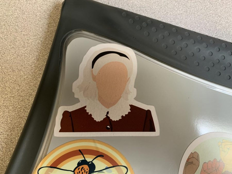 In search of a well made Sabrina Spellman computer sticker, I found this one from Redbubble
