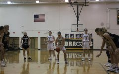 Sinking the free throw to grow their lead, Sydney Woods (22), goes two for two from the line. I practice my free throws a lot, Woods said. They are a very important part of the basketball game. Woods has played JV since freshman year.