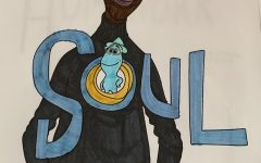 The cover for Pixar's newest film, Soul, featuring Jamie Foxx as Joe Gardner and Tina Fey as 22.