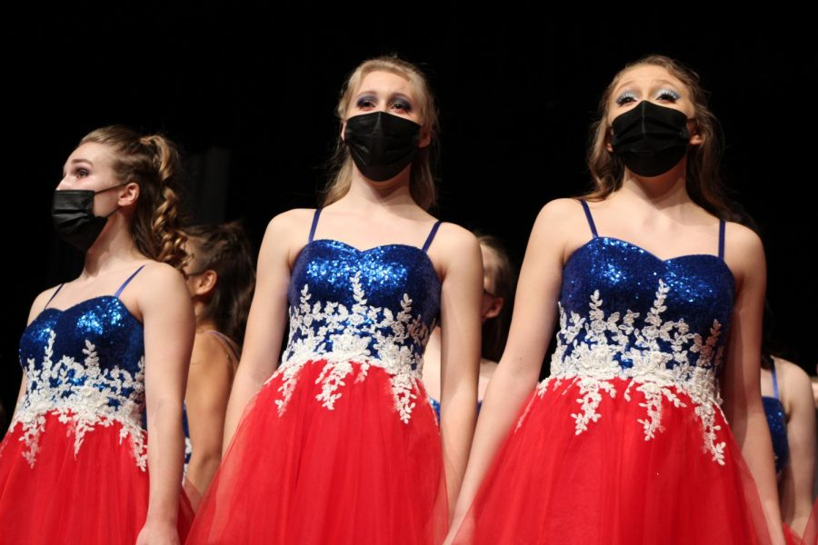 Singing in the Ballad, Kate Sallee (21) slows her breathing anticipating her next song.