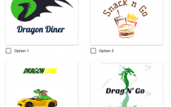 School Representation: In the 'Side Kitchen Name Survey' Google Form, students have the ability to vote from one of four logos designed by both the fall and spring marketing classes. These logos feature names 'Dragon Diner,' 'Snack n Go,' 'Dragon Lane' and 'Drag N' Go.'